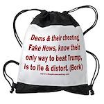 Dems Lie & Distort Drawstring Bag
