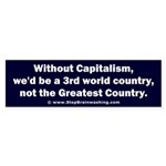 Without Capitalism Sticker (Bumper)