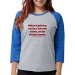 Without Capitalism Womens Baseball Tee
