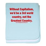 Without Capitalism baby blanket