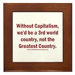 Without Capitalism Framed Tile