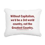 Without Capitalism Rectangular Canvas Pillow