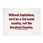 Without Capitalism 5'x7'Area Rug