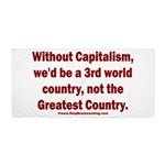 Without Capitalism Beach Towel