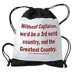 Without Capitalism Drawstring Bag