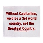 Without Capitalism Throw Blanket