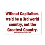 Without Capitalism 20x12 Wall Decal