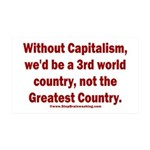 Without Capitalism 35x21 Wall Decal