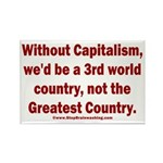 Without Capitalism Rectangle Magnet