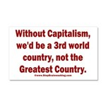 Without Capitalism Car Magnet 20 x 12
