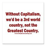 Without Capitalism Square Car Magnet 3