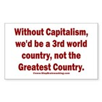 Without Capitalism Sticker (Rectangle)