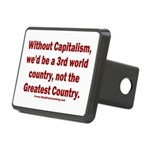 Without Capitalism Rectangular Hitch Cover