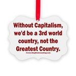 Without Capitalism Picture Ornament