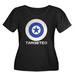 Targeted Women's Plus Size Scoop Neck Dark T-Shirt