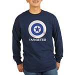 Targeted Long Sleeve Dark T-Shirt