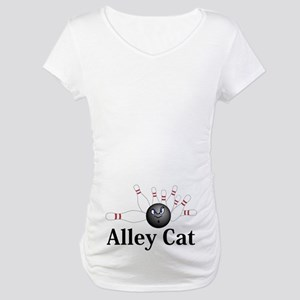 Alley Cat Logo 6 Maternity T-Shirt Design on Belly