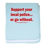 Support Police or ? baby blanket