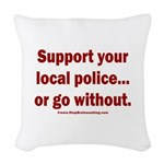 Support Police or ? Woven Throw Pillow