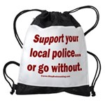 Support Police or ? Drawstring Bag