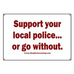 Support Police or ? Banner