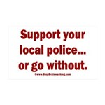 Support Police or ? 35x21 Wall Decal