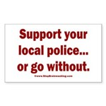 Support Police or ? Sticker (Rectangle)