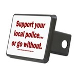 Support Police or ? Rectangular Hitch Cover