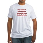 Impeachment reveals Dems Fitted T-Shirt