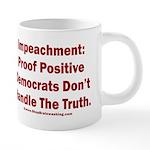 Impeachment reveals Dems 20 oz Ceramic Mega Mug
