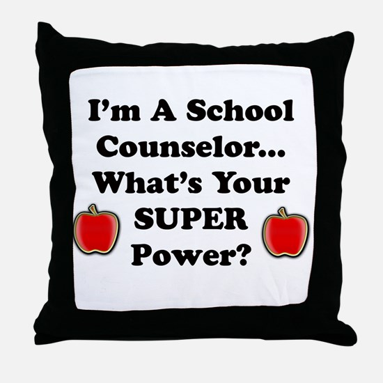 Cute Counselor Throw Pillow