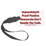 Impeachment reveals Dems Large Luggage Tag