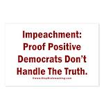 Impeachment reveals Dems Postcards (Package of 8)