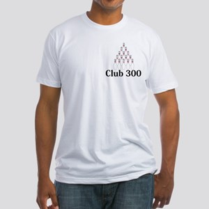 Club 300 Logo 9 Fitted T-Shirt Design Front Pocket