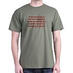Progressives Threaten Dark T-Shirt