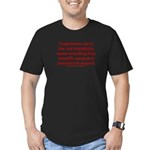 Progressives Threaten Men's Fitted T-Shirt (dark)