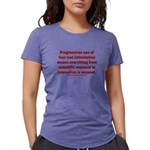 Progressives Threaten Womens Tri-blend T-Shirt