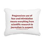 Progressives Threaten Rectangular Canvas Pillow