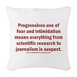 Progressives Threaten Woven Throw Pillow