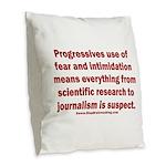 Progressives Threaten Burlap Throw Pillow