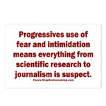 Progressives Threaten Postcards (Package of 8)