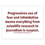 Progressives Threaten Small Poster