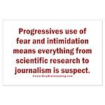 Progressives Threaten Large Poster