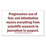 Progressives Threaten Sticker (Rectangle)