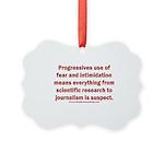 Progressives Threaten Picture Ornament
