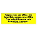 Progressives Threaten Sticker (Bumper)