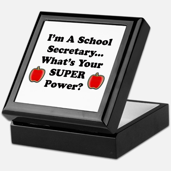 Funny School secretary Keepsake Box