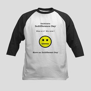 Celebrate Indifference Day Kids Baseball Jersey