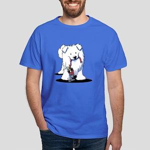Penguin Sled Samoyed Dark T-Shirt