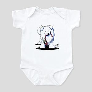 Penguin Sled Samoyed Infant Bodysuit